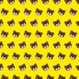 Urso - teste padrão 18 do emoji ilustração royalty free
