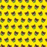 Urso - teste padrão 80 do emoji ilustração do vetor