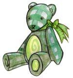 Urso verde da peluche Fotos de Stock Royalty Free