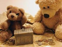 Ursos & tesouro da peluche Foto de Stock