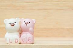 Ursos cerâmicos bonitos Foto de Stock