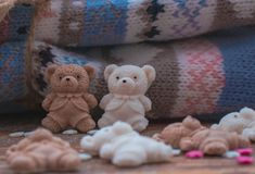 Ursos cobertos de açúcar foto de stock royalty free