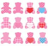 Ursos da cor-de-rosa Fotografia de Stock Royalty Free