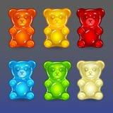Ursos da geleia da cor ajustados Imagens de Stock Royalty Free