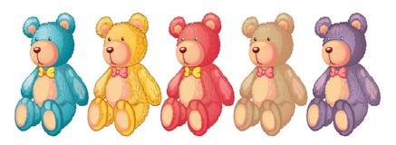Ursos da peluche ilustração do vetor