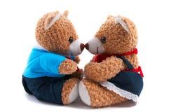Ursos da peluche da mamã & do paizinho Fotos de Stock