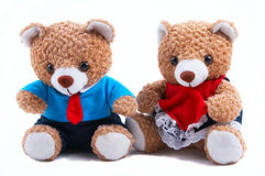 Ursos da peluche da mamã & do paizinho Foto de Stock Royalty Free