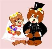Ursos da peluche do casamento Imagens de Stock
