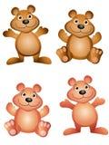 Ursos da peluche dos desenhos animados Fotografia de Stock Royalty Free