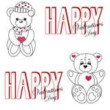 Ursos da peluche no amor Imagens de Stock Royalty Free