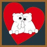 Ursos de amor ilustração royalty free
