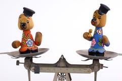 Ursos de equilíbrio Fotografia de Stock Royalty Free