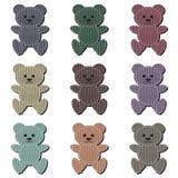 Ursos de peluche agradáveis do álbum de recortes no branco Imagem de Stock