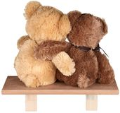 Ursos de peluche bonitos no fundo branco foto de stock royalty free