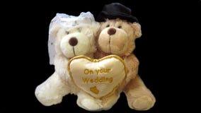 Ursos de peluche do casamento Fotos de Stock