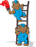 Ursos de pintura ilustração do vetor