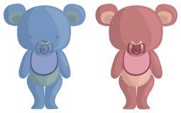 Ursos do bebê da peluche Fotos de Stock