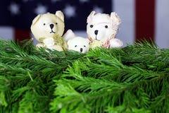 Ursos do brinquedo da árvore do ano novo Fotografia de Stock