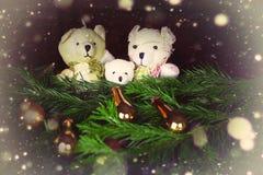 Ursos do brinquedo da árvore do ano novo Imagens de Stock