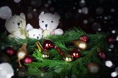 Ursos do brinquedo da árvore do ano novo Imagem de Stock Royalty Free