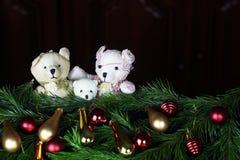 Ursos do brinquedo da árvore do ano novo Fotos de Stock