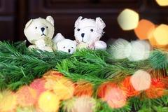 Ursos do brinquedo da árvore do ano novo Foto de Stock