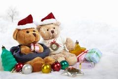 Ursos do Natal Fotos de Stock Royalty Free