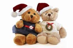Ursos do Natal Fotografia de Stock Royalty Free