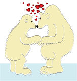 Ursos do Valentim ilustração royalty free