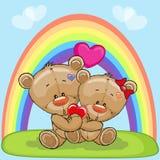 Ursos dos amantes Fotos de Stock Royalty Free