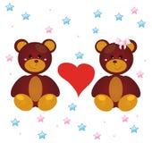 Ursos e amor Fotografia de Stock