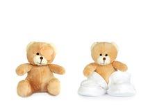 Ursos gêmeos da peluche foto de stock