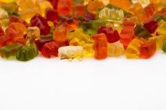 Ursos gomosos isolados Imagem de Stock