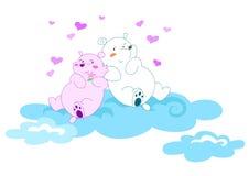 Ursos no amor 2 - ilustração vectorial ilustração royalty free