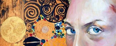 Ursprüngliche abstrakte Malerei, Öl auf Segeltuch Lizenzfreies Stockfoto