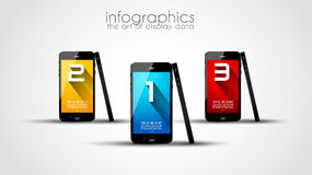Ursprüngliche Art Infographics-Schablone Stockfotografie