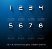 Ursprüngliche Art Infographics-Schablone Lizenzfreies Stockfoto