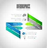 Ursprüngliche Art Infographics-Schablonen Lizenzfreies Stockfoto