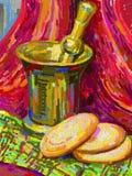 Ursprüngliche digitale Malerei, Stillleben Lizenzfreies Stockfoto