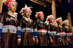 Ursprüngliche Dong Chorus, Guizhou, Porzellan Stockbilder