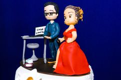 Ursprüngliche Hochzeitstorte stockfoto