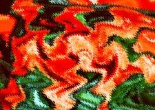 Ursprüngliche mehrfarbige Abstraktion im Rot Stockbilder