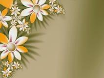 Ursprüngliche mit Blumenschablone mit Platz für Text Weiß bewegt herum wellenartig Stockfotos