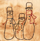 Ursprüngliche Schneemänner Stockfoto