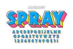 Ursprüngliche Schriftart der Anzeige 3d, Alphabet, Buchstaben stock abbildung