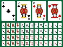 Ursprüngliche Spielkarten Stockbild