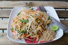 Ursprüngliche thailändische Nudel Stockbild