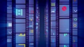 Ursprüngliche Violet Vintage Cinema Tape stock abbildung