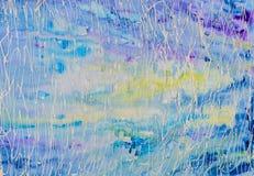 Ursprüngliche Watercolourmalerei Abstrakte Hintergrundkräuselungen Lizenzfreie Stockfotografie