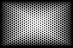 Ursprünglicher abstrakter Halbtonhintergrund von Hexagonen Vektor lizenzfreie abbildung